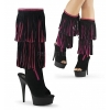 DELIGHT-2059TT Black-Hot Pink Suede